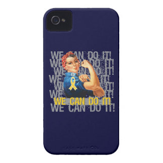 Childhood Cancer Rosie WE CAN DO IT Case-Mate iPhone 4 Case