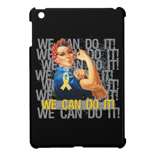 Childhood Cancer Rosie WE CAN DO IT iPad Mini Cover