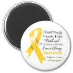 Childhood Cancer Support Strong Survivor Magnet
