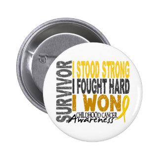 Childhood Cancer Survivor 4 6 Cm Round Badge