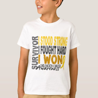 Childhood Cancer Survivor 4 T-Shirt