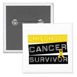 Childhood Cancer Survivor 15 Cm Square Badge