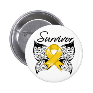 Childhood Cancer Survivor Butterfly 6 Cm Round Badge