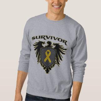 Childhood Cancer Survivor Crest Sweatshirt