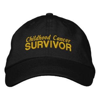 Childhood Cancer Survivor Embroidered Baseball Caps