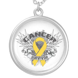 Childhood Cancer Survivor Grunge Winged Jewelry