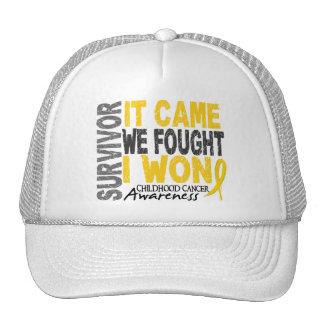 Childhood Cancer Survivor It Came We Fought I Won Cap