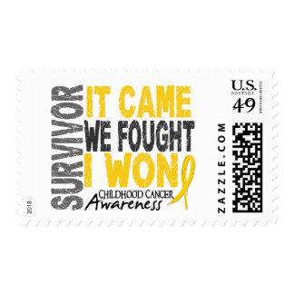 Childhood Cancer Survivor It Came We Fought I Won Postage Stamp