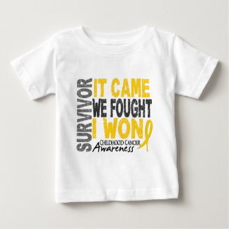 Childhood Cancer Survivor It Came We Fought I Won Tshirts