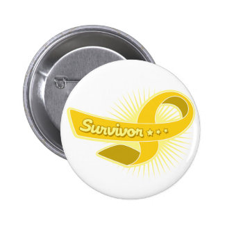 Childhood Cancer Survivor Ribbon 6 Cm Round Badge