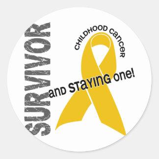 Childhood Cancer Survivor Sticker