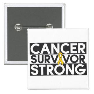 Childhood Cancer Survivor Strong 15 Cm Square Badge