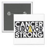 Childhood Cancer Survivor Strong Pinback Button