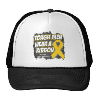Childhood Cancer Tough Men Wear A Ribbon Trucker Hat