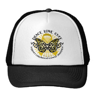 Childhood Cancer Tribal Butterfly Cap