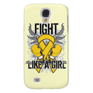 Childhood Cancer Ultra Fight Like A Girl Samsung Galaxy S4 Case