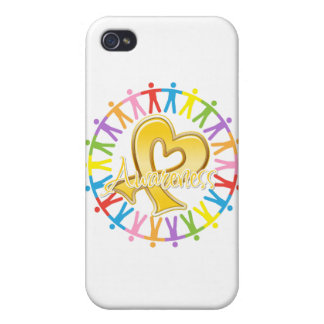 Childhood Cancer Unite in Awareness iPhone 4 Cases