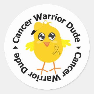Childhood Cancer Warrior Dude Sticker