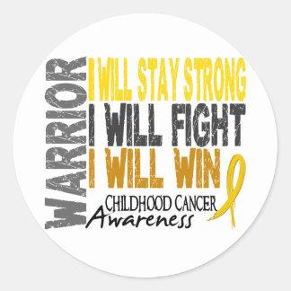 Childhood Cancer Warrior Round Sticker