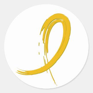 Childhood Cancer's Gold Ribbon A4 Round Sticker