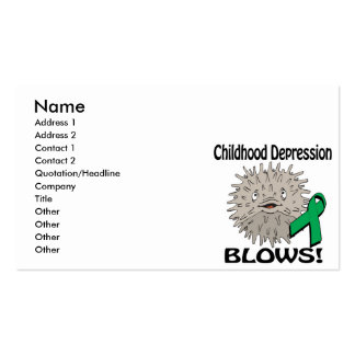 Childhood Depression Blows Awareness Design Pack Of Standard Business Cards