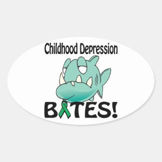 Childhood Despression BITES Stickers