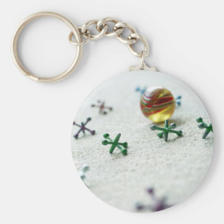 Childhood Jacks Basic Round Button Key Ring