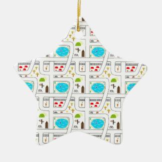 Childhood Map Christmas Ornament
