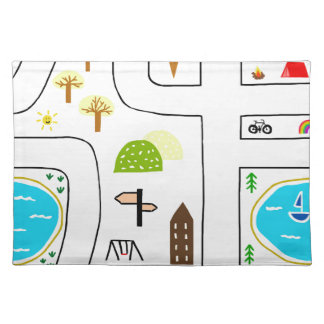 Childhood Map Placemat