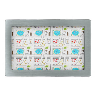 Childhood Map Rectangular Belt Buckles