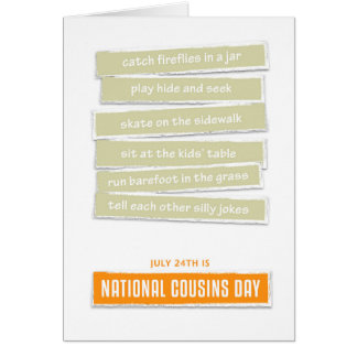 Childhood Memories - Cousins Day Card
