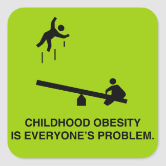 Childhood Obesity Square Sticker