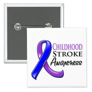Childhood Stroke Awareness Ribbon 15 Cm Square Badge