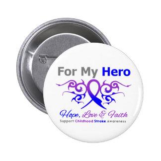 Childhood Stroke Tribal Ribbon Hero 6 Cm Round Badge