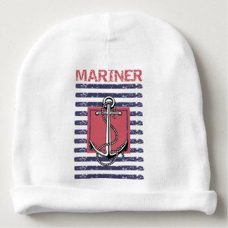 Childish beret Striped Mariner Baby Beanie