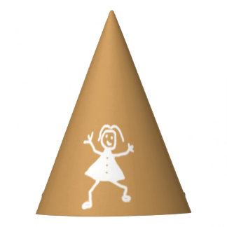 Childish Drawing Character on any Color Party Hat