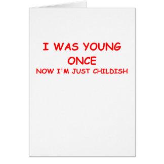 childish greeting card