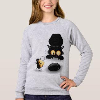 Childish Moletom feminine Cat and Rat Sweatshirt