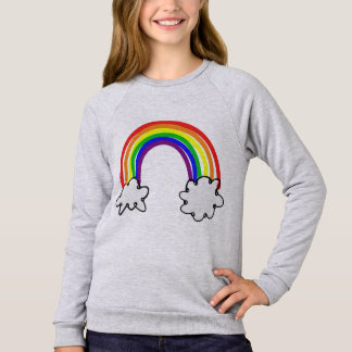 Childish Moletom feminine Rainbow Sweatshirt
