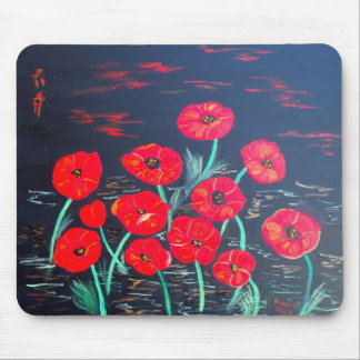 Childlike Poppies Mouse Mat