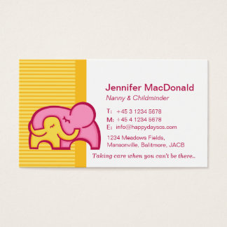 Childminder/ baby sitter / carer business cards