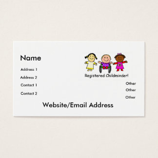Childminder Business Card