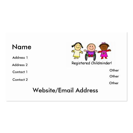 Childminder Business Card