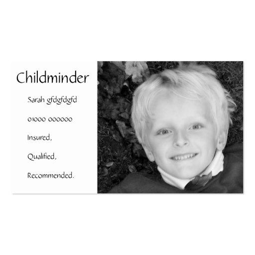 Childminder/Nanny/Babysitter Business Card Business Card Template