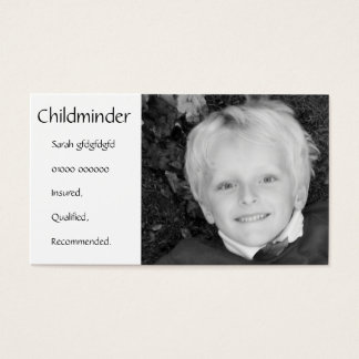 Childminder/Nanny/Babysitter Business Card