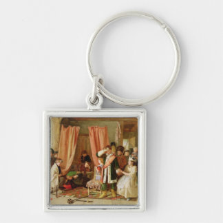 Children acting the 'Play Scene', Act II, Scene ii Silver-Colored Square Key Ring