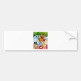 Children and animals in the garden bumper sticker