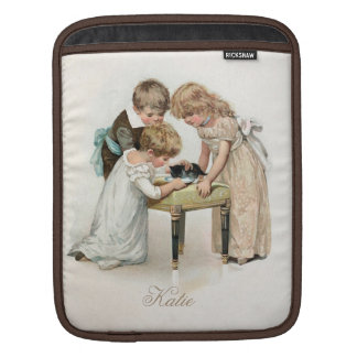 Children and Cat Vintage Sleeve For iPads