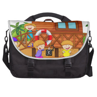 Children and hut laptop computer bag