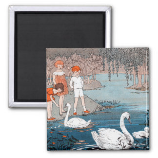 Children and  Swans Magnet